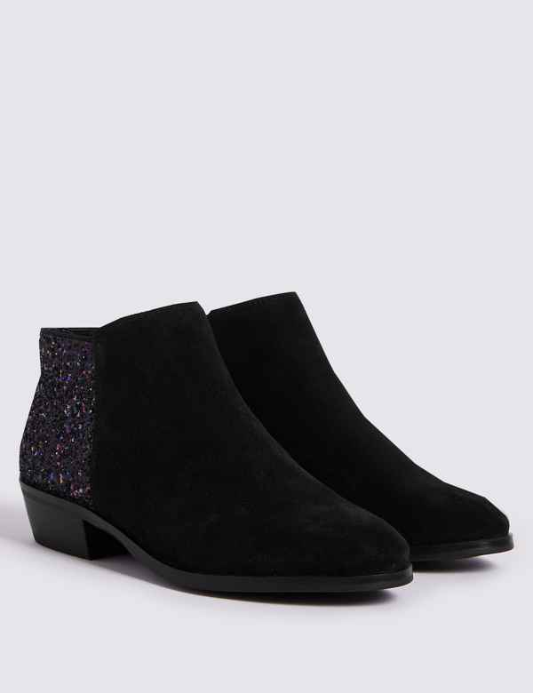 Kids  Suede Glitter Boots (13 Small - 6 Large) b50fb39d73eb