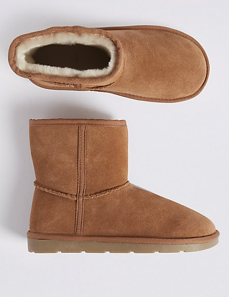 Kids' Suede Ankle Boots (13 Small - 6 Large)