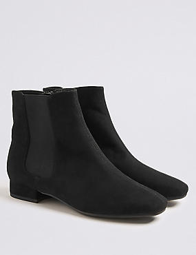 Block Heel Ankle Boots (13 Small - 6 Large)