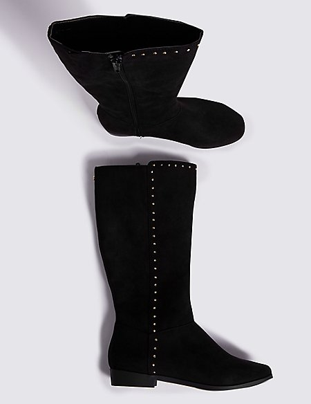 Kids' Knee High Stud Boots (13 Small - 6 Large)