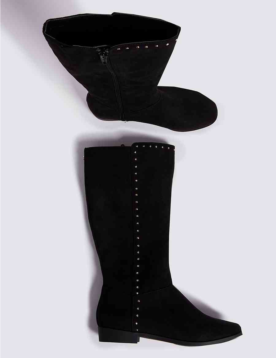 298231f3ce0 Kids  Knee High Stud Boots (13 Small - 6 Large)