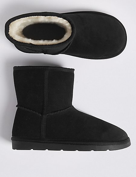 Kids' Suede Boots (13 Small - 6 Large)