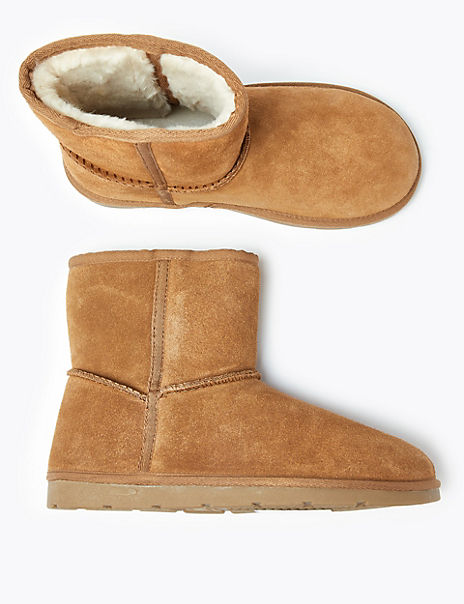 Kids' Lined Suede Pull On Boots (13 Small - 6 Large)