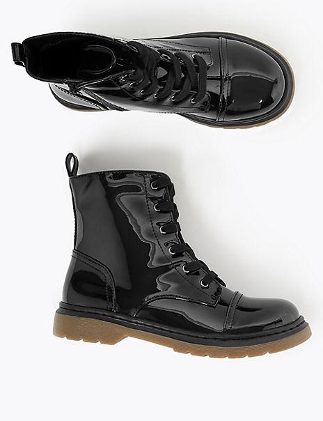 Kids' Lace Up Punk Boots (13 Small - 6 Large)