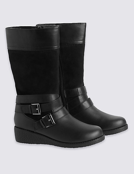 kids' Scuff Resistant Wedge Boots