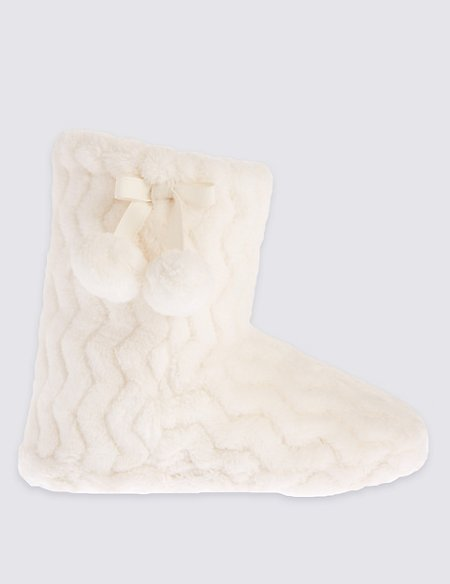 Kids' Fur Slipper Boots