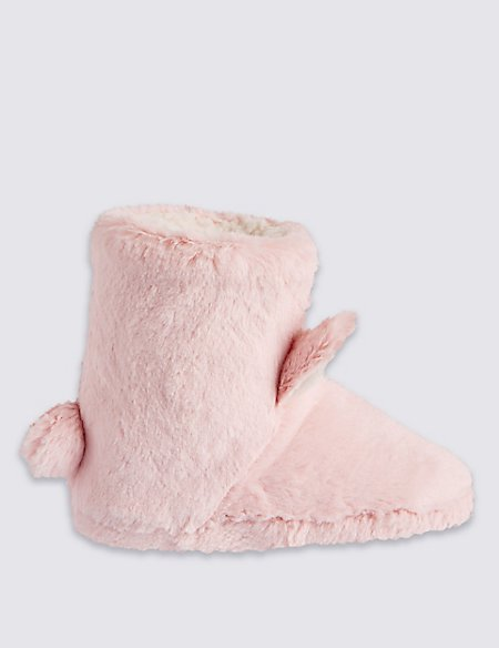 Kids' Bunny Boot Slippers