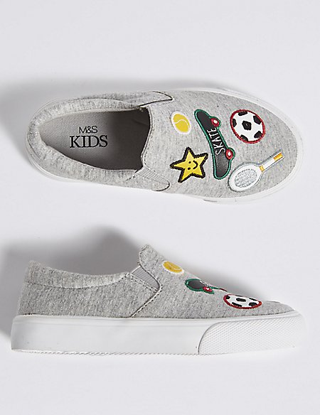 Kids' Badged Fashion Trainers (5 Small - 12 Small)