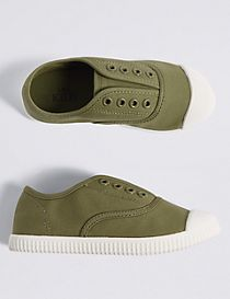 Kids' Canvas Laceless Trainers (5 Small - 12 Small)