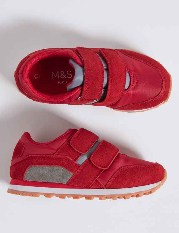 b1525f748345 Kids  Suede Fashion Trainers (5 Small - 12 Small)