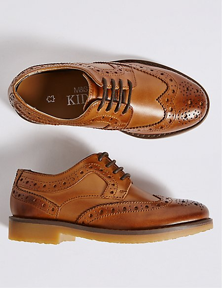 Kids' Leather Brogue Shoes (5 Small - 12 Small)