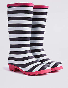 Kids' Striped Wellies (13 Small - 6 Large)