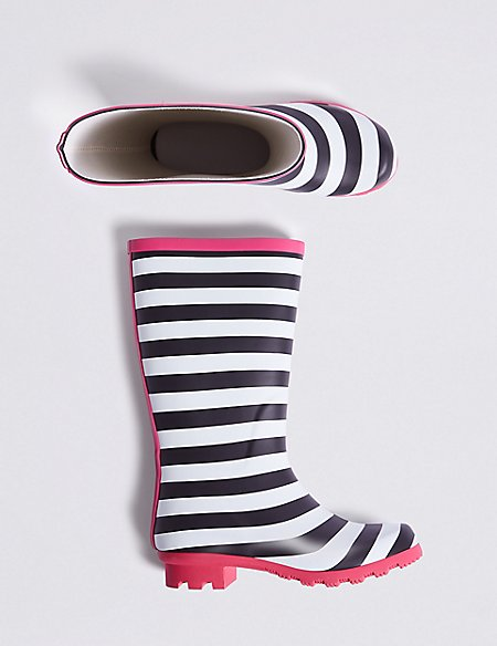Kids' Striped Wellies (13 Small - 7 Large)