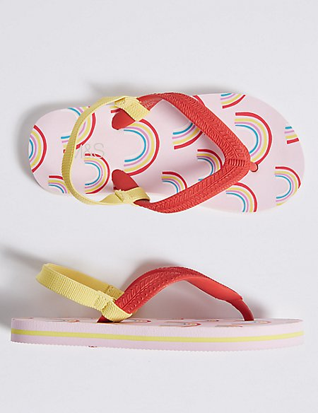 Kids' Rainbow Flip-flops (5 Small - 12 Small)