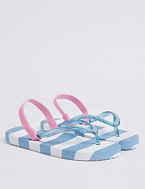 Kids' Striped Flip-flops (5 Small - 12 Small)