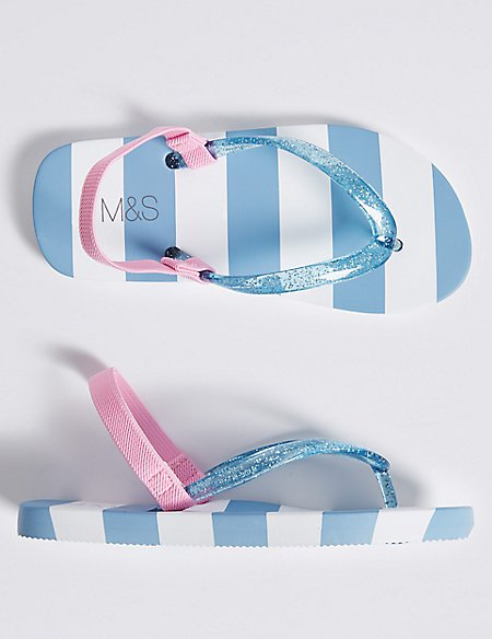 Kids' Striped Flip-flops (5 Small - 12 Small)