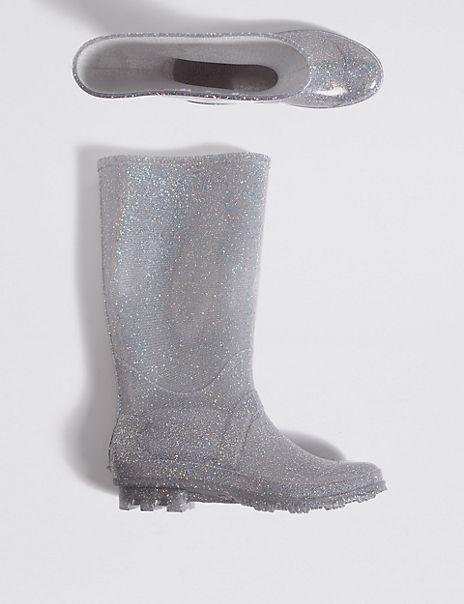 Kids' Glitter Wellies (13 Small - 6 Large)