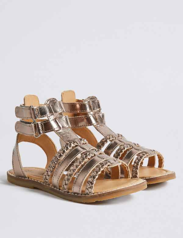 b70c2d4a6779 Kids  Leather Gladiator Sandals (5 Small - 12 Small)