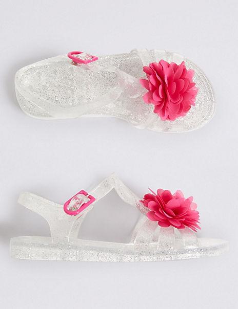 Kids' Glitter Jelly Sandals (5 Small - 12 Small)