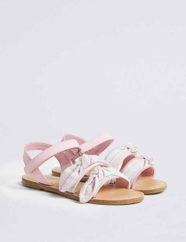 b23f0f74bbe7 Kids  Bow Sandals (5 Small - 12 Small)