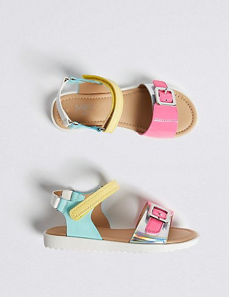 Kids' Colour Block Sandals (5 Small - 12 Small)