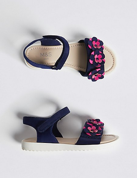Kids' Floral Footbed Sandals (5 Small - 12 Small)