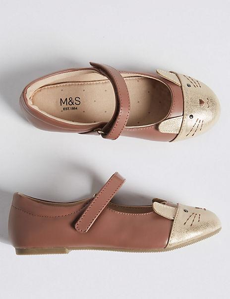 Kids Freshfeet™ Mary Jane Rabbit Shoes (5 Small - 12 Small)