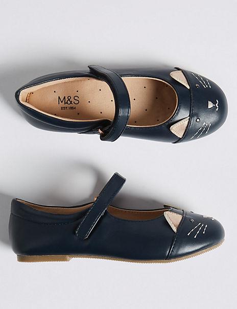 Kids Freshfeet™ Mary Jane Cat Shoes (5 Small - 12 Small)