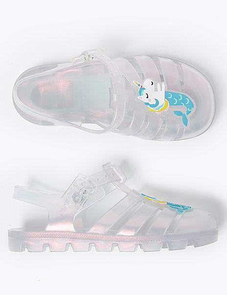 Kids' Unicorn Jelly Sandals (5 Small - 12 Small)