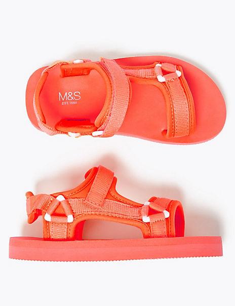 Kids' Fluorescent Riptape Trekker Sandals (5 Small - 7 Large)