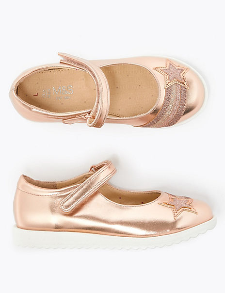 Kids' Metallic Star Mary Jane Shoes (5 Small - 12 Small)