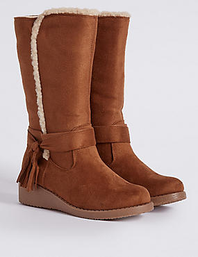 Kids' Tassel Wedge Riding Boots