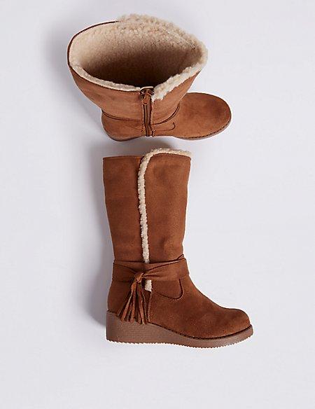 Kids' Tassel Wedge Riding Boots