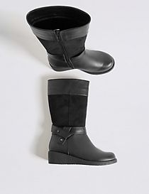 Kids' Wedge Riding Boots