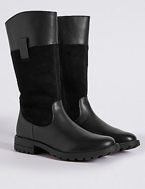 Kids' Leather Riding Boots