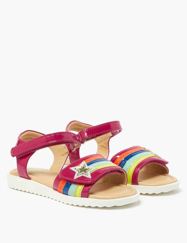 white red sizes 11,12,13,1,2,-2.5 Girls//Infant patent buckle  sandals yellow