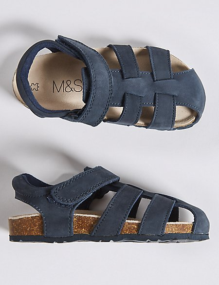 Kids' Suede Riptape Fisherman Sandals (5 Small - 12 Small)