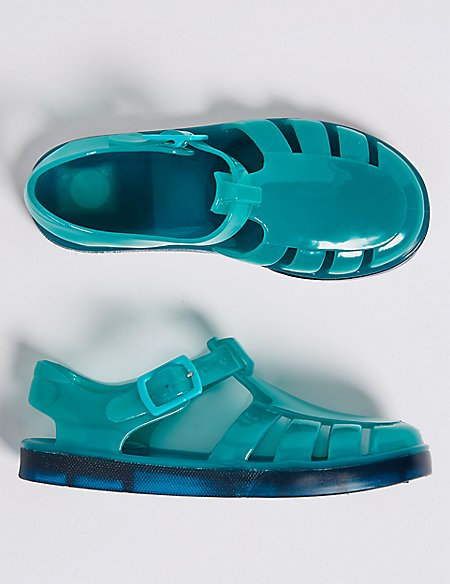 Kids' Jelly Sandals with Flashing Lights (5 Small - 12 Small)