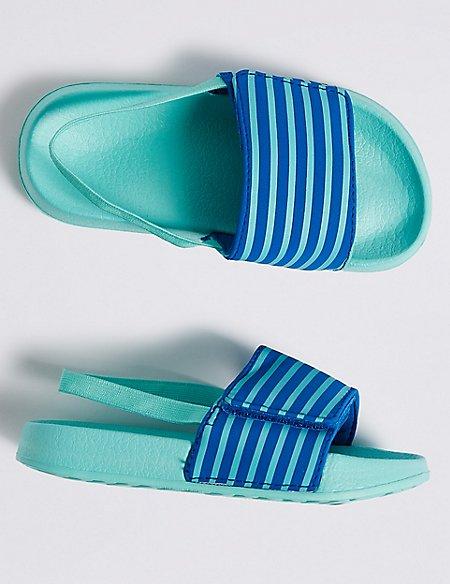 Kids' Striped Slide Sandals (5 Small - 12 Small)