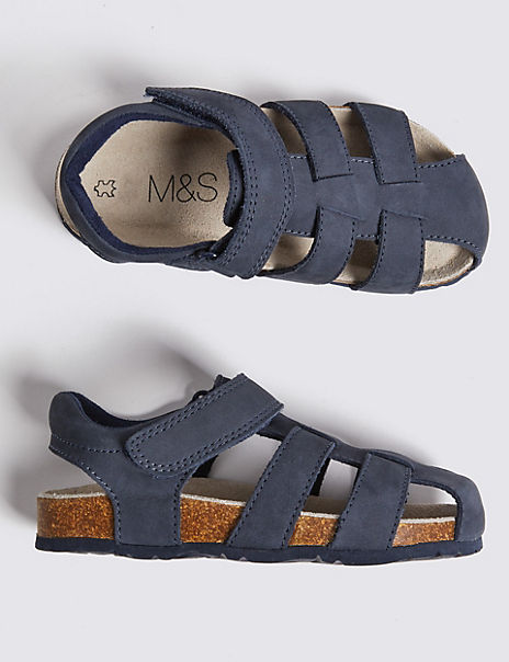Kids' Leather Footbed Sandals (5 Small - 12 Small)