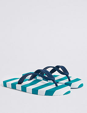 Kids' Striped Flip-flops (13 Small - 7 Large)
