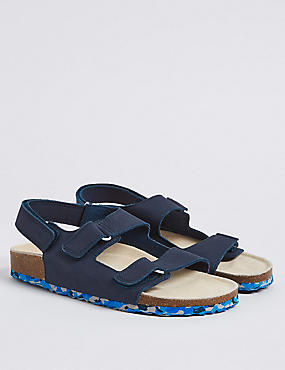 Kids' Leather Riptape Sandals (13 Small - 7 Large)
