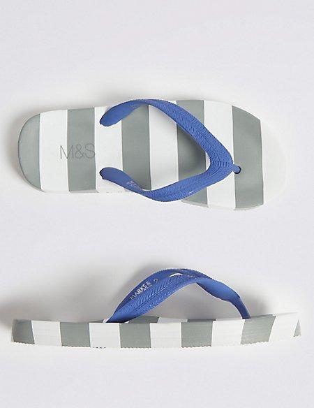 Kids' Striped Flip-flops (13 Small - 7 Large)
