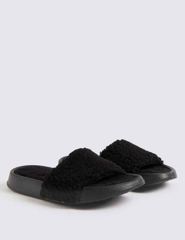 aba3a6d9e69 Kids  Faux Fur Slippers (13 Small - 7 Large)
