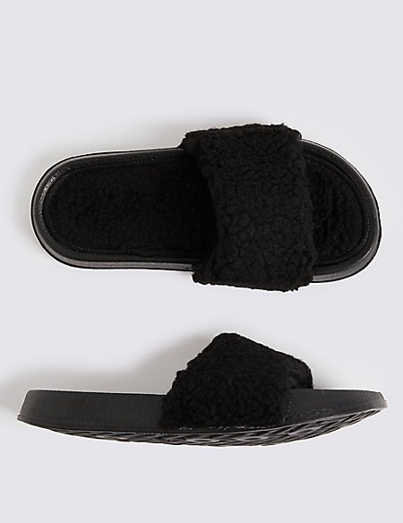 Kids' Faux Fur Slippers (13 Small - 7 Large)