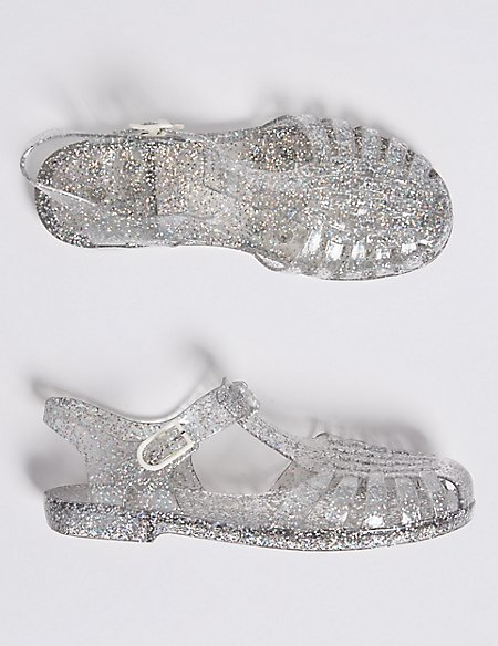 8f446aeb6caa9e Kids  Glitter Jelly Sandals (13 Small - 6 Large)