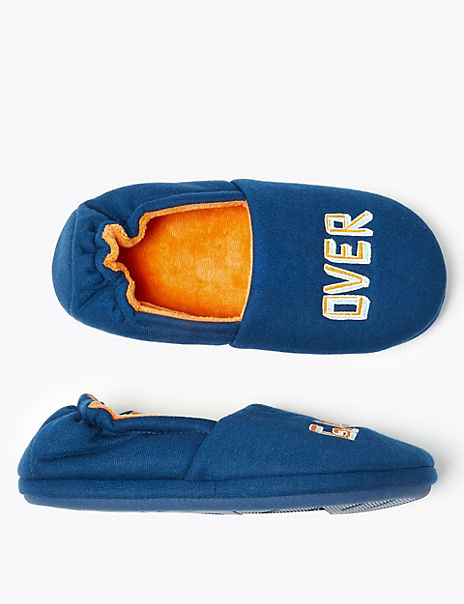 Kids' Game Over Fleece Slippers (13 Small - 7 Large)