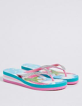 Kids' Wedge Flip-flops (13 Small - 6 Large)