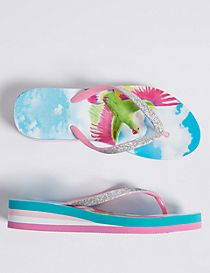 Kids' Wedge Flip-flops (13 Small - 6 Large)