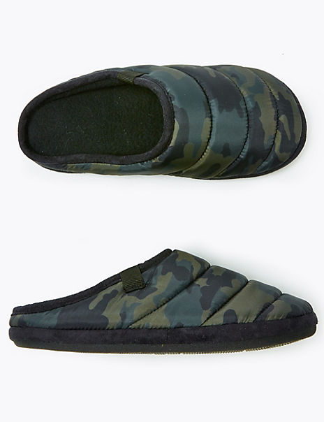 Kids' Camouflage Print Slippers (13 Small - 7 Large)